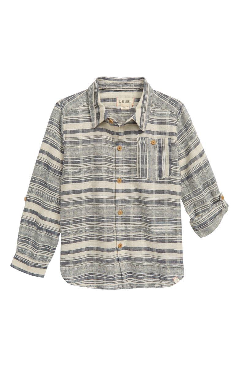ME & HENRY Stripe Woven Shirt, Main, color, 400