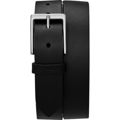 Shinola Lightning Bolt Keeper Belt, Black