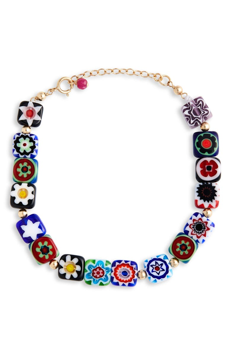 BECK JEWELS Millefiori Beaded Bracelet, Main, color, 100