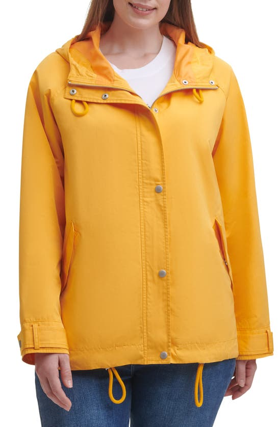 LEVI'S Jackets HOODED PEACHED WATER RESISTANT RAIN JACKET