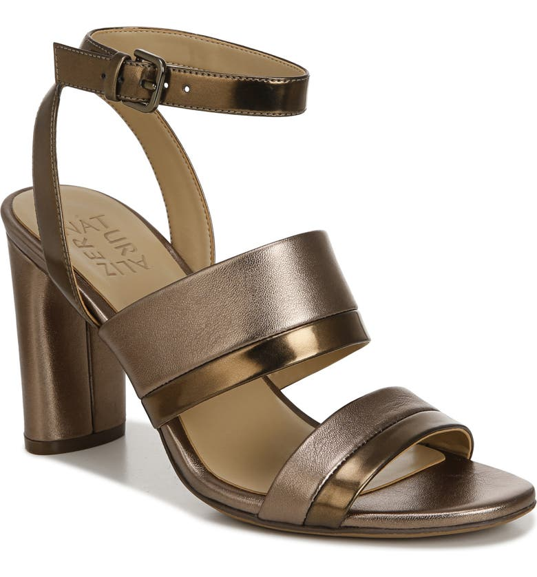 NATURALIZER Ruby Sandal, Main, color, BRONZE LEATHER