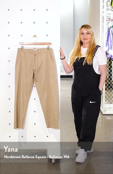 Kurt Relaxed Stretch Twill Crop Trousers, sales video thumbnail