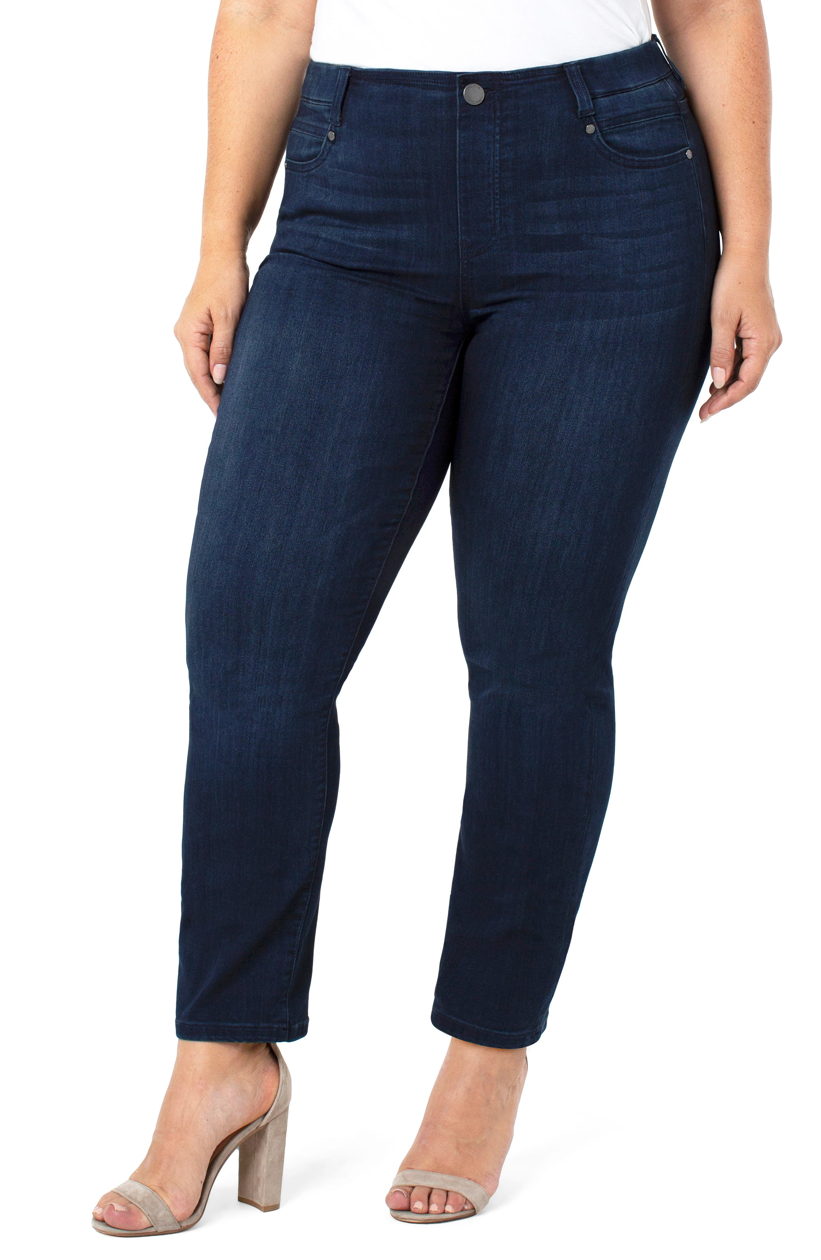 Gia Glider Pull-On Slim Jeans