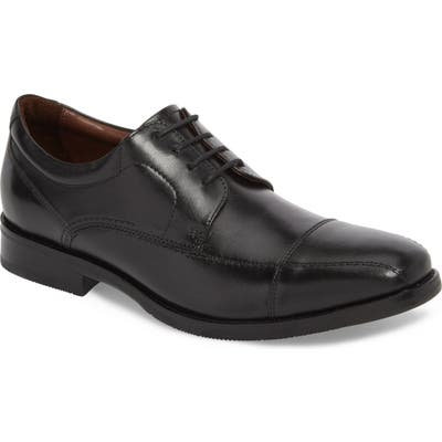 Johnston & Murphy Bartlett Cap Toe Derby, Black