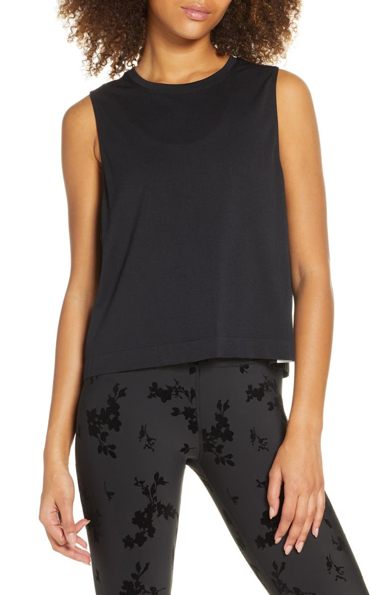 SOUL BY SOULCYCLE Seamless Crop Tank, Main, color, 001