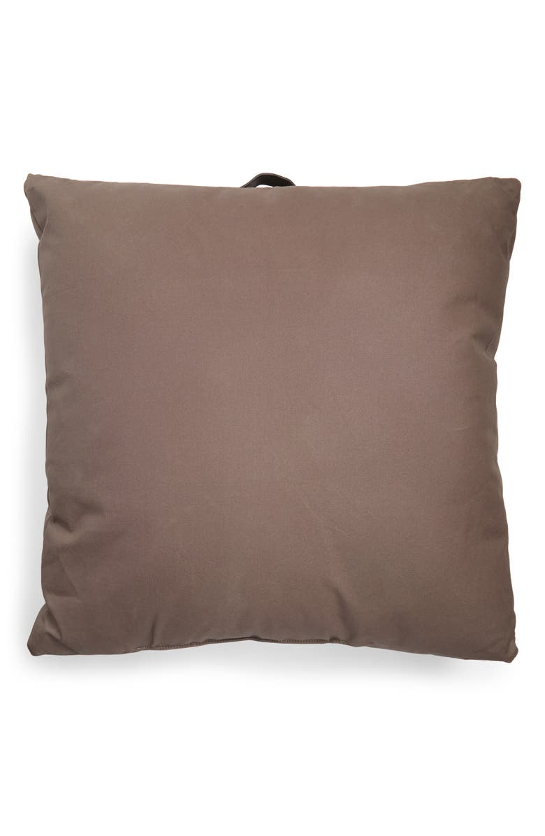TREASURE & BOND Outdoor Canvas Floor Pillow, Main, color, BROWN CANVAS
