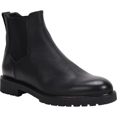 Ross & Snow Fabio Genuine Shearling Lined Chelsea Boot, Black