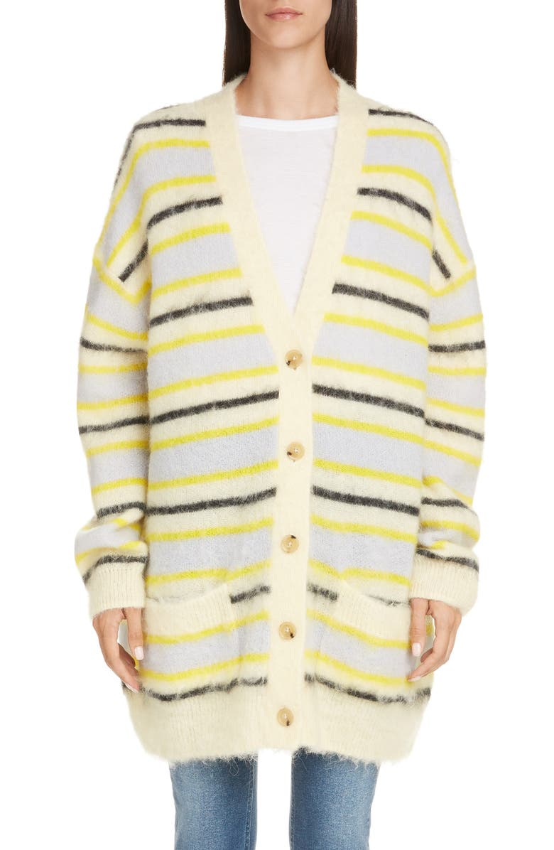 ACNE STUDIOS Keda Oversize Wool & Alpaca Blend Cardigan, Main, color, 700