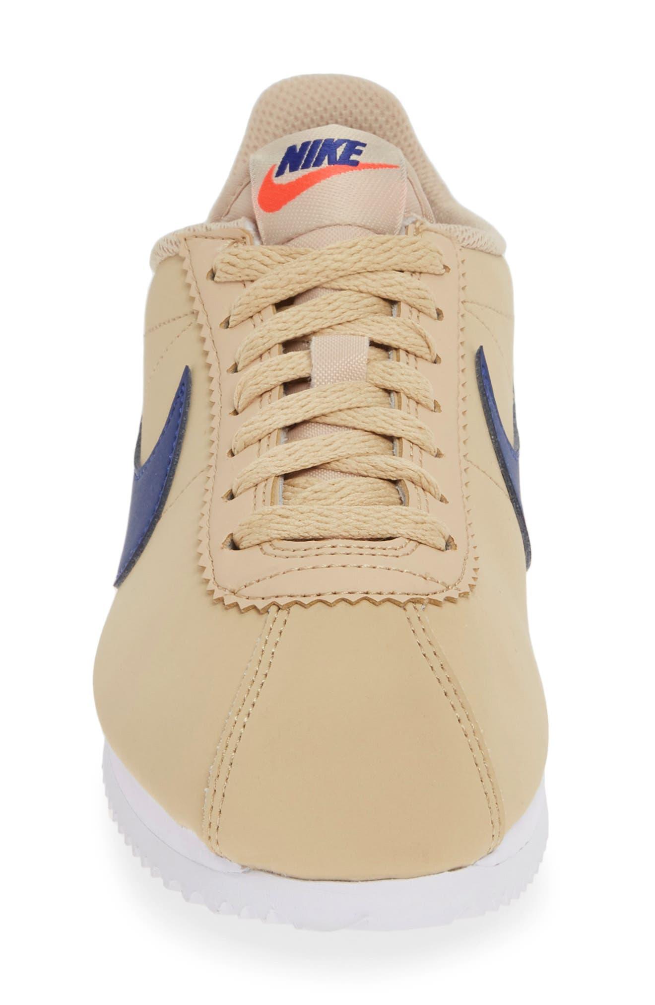 ,                             Classic Cortez Sneaker,                             Alternate thumbnail 4, color,                             DESERT ORE/ DEEP ROYAL BLUE