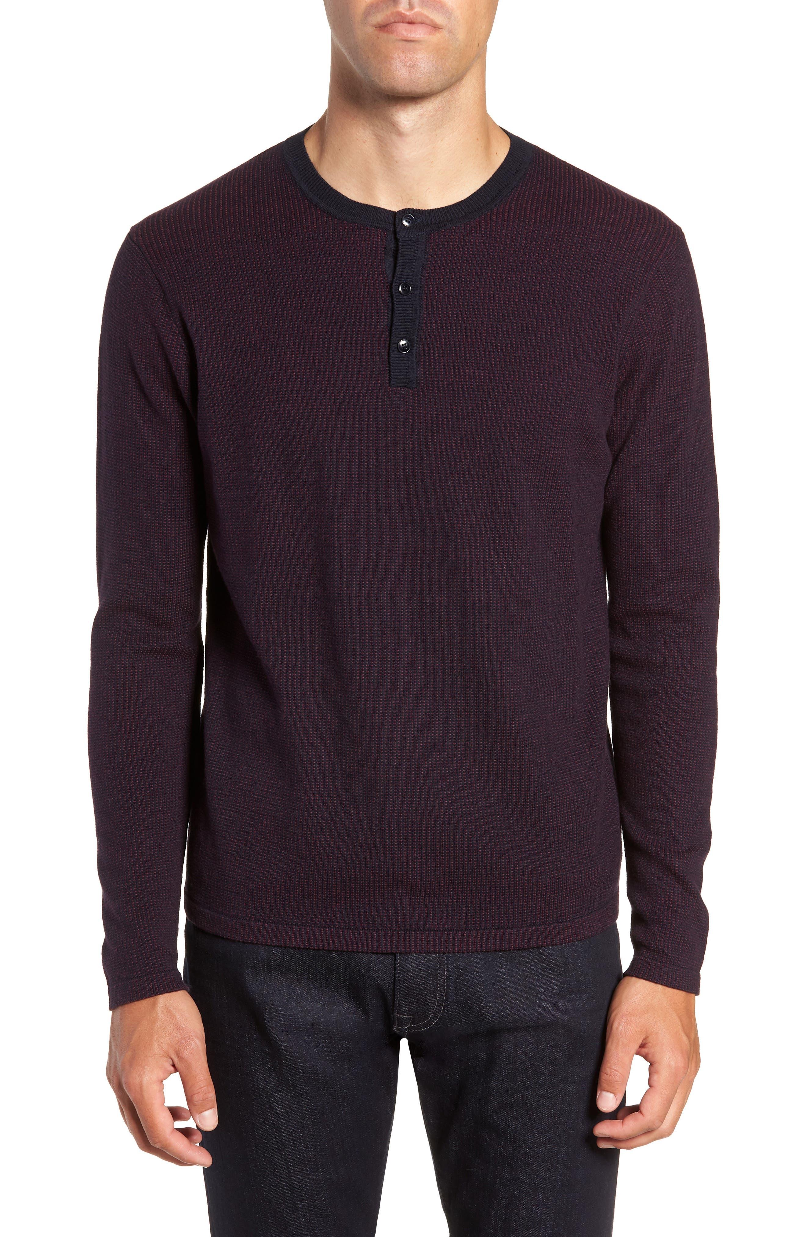 ,                             Kimball Regular Fit Henley Sweater,                             Main thumbnail 1, color,                             WINE