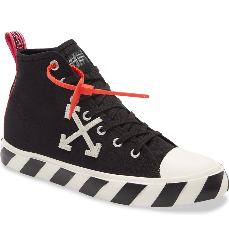 OFF-WHITE Mid Top Sneaker, Main, color, BLACK/ WHITE