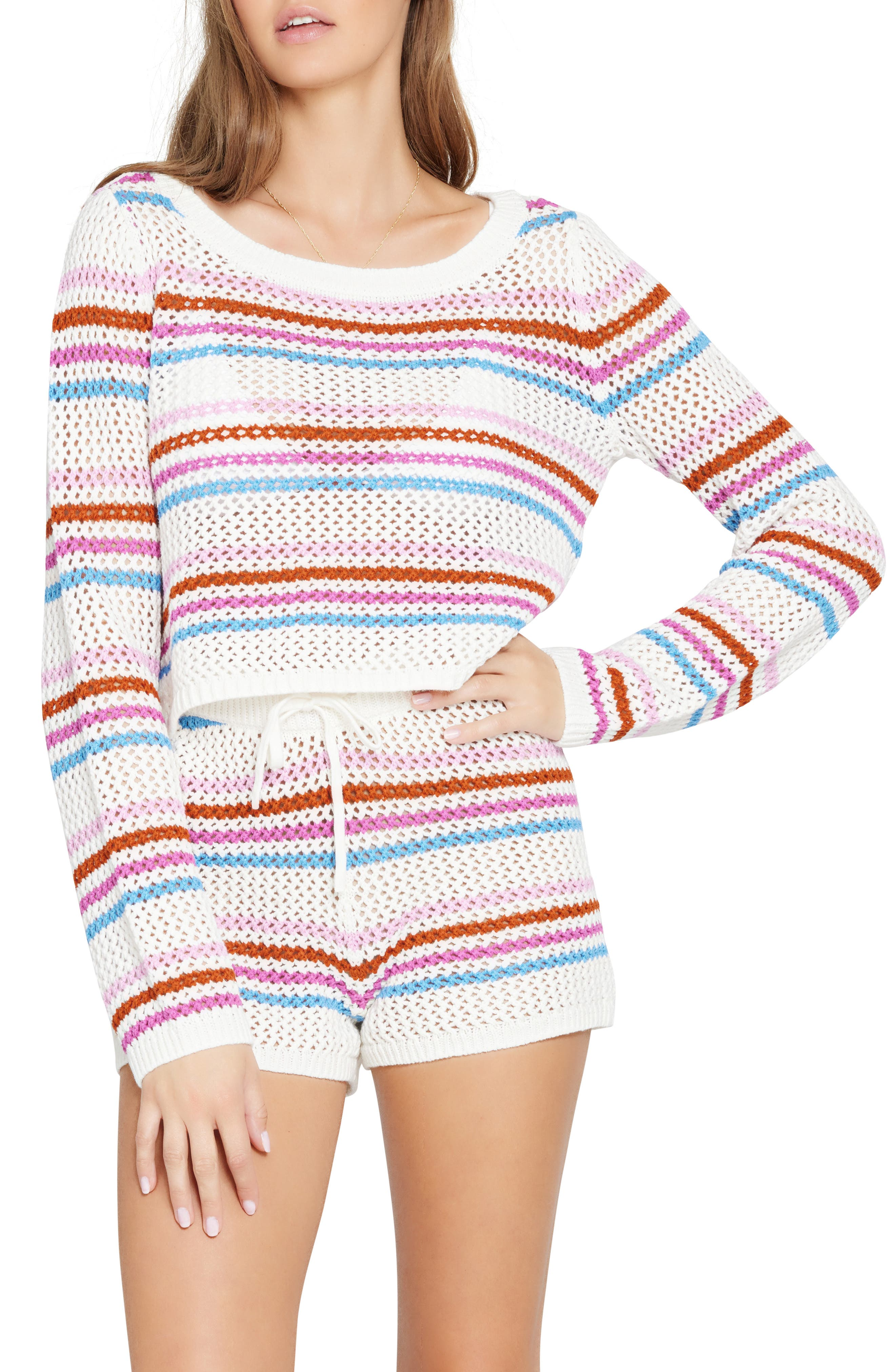 Women's L Space On The Horizon Crochet Cover-Up Sweater