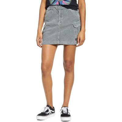 Bdg Urban Outfitters Corduroy Utility Skirt, Grey