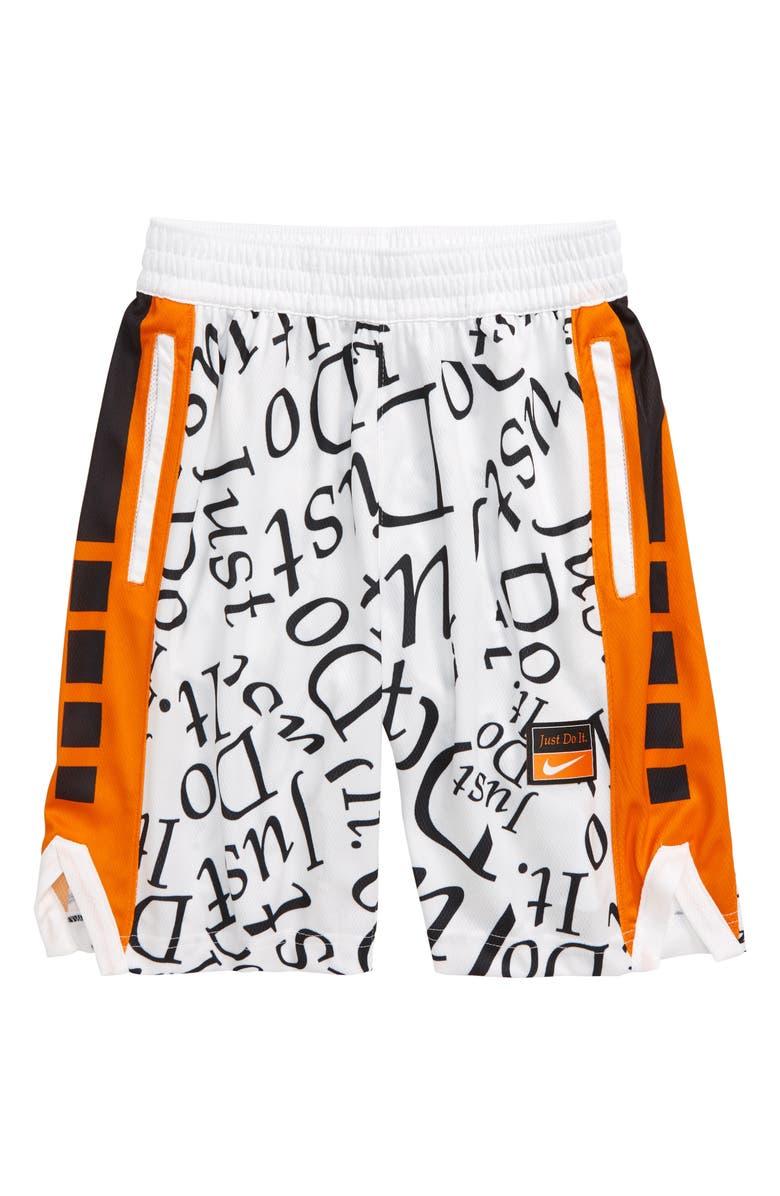 NIKE Dri-FIT Elite Energy Basketball Shorts, Main, color, WHITE