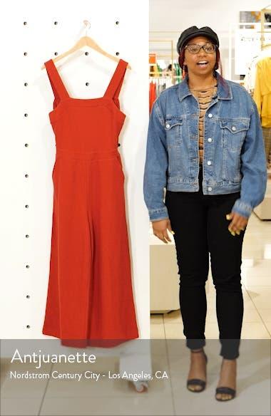 Texture & Thread Apron Bow Back Jumpsuit, sales video thumbnail