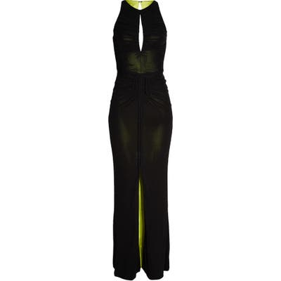 Cdgny By Cd Greene Caitlyn Ruched Gown, Black