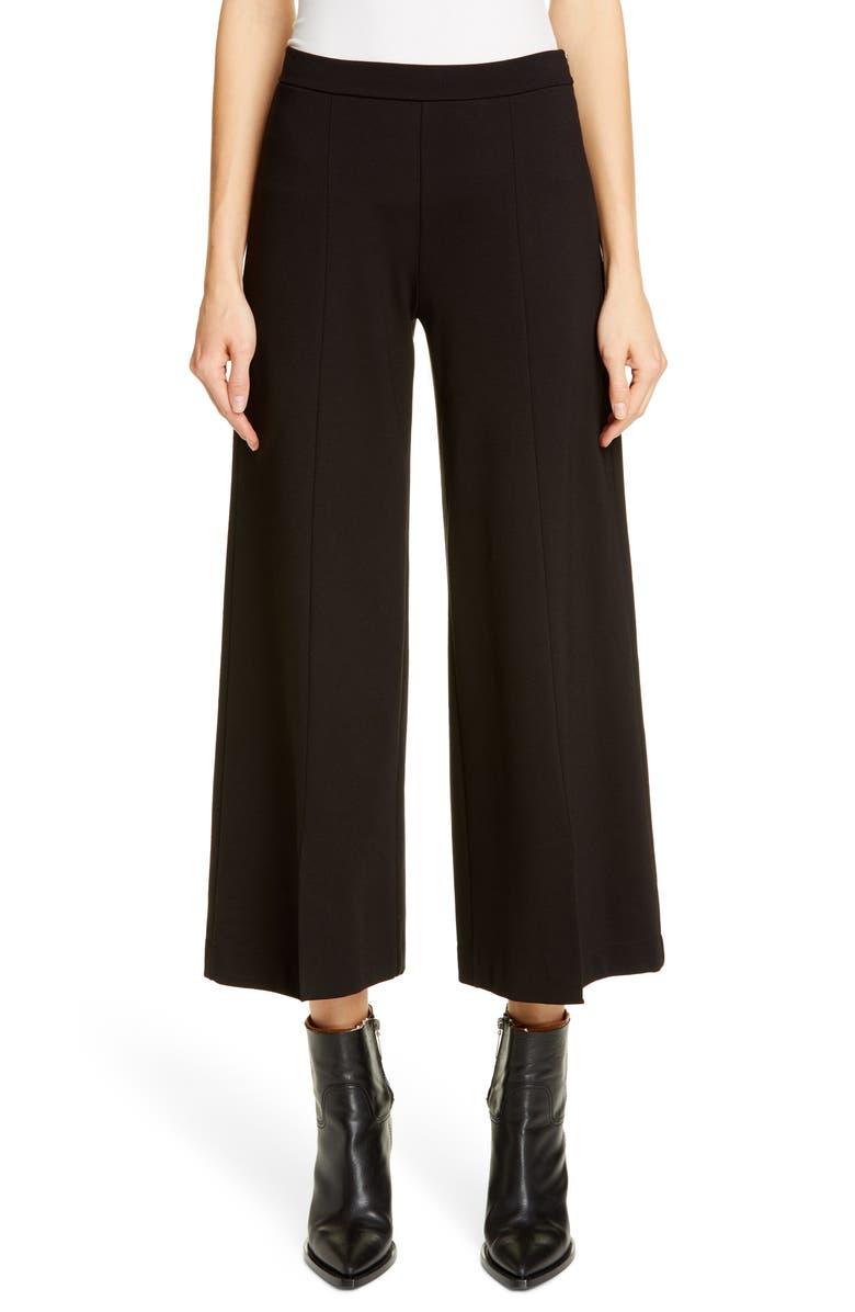 FUZZI Wide Leg Crop Pants, Main, color, 001
