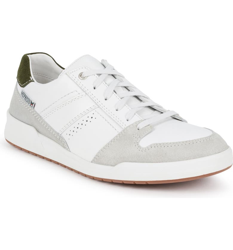 MEPHISTO Russel Sneaker, Main, color, STONE/ WHITE LEATHER