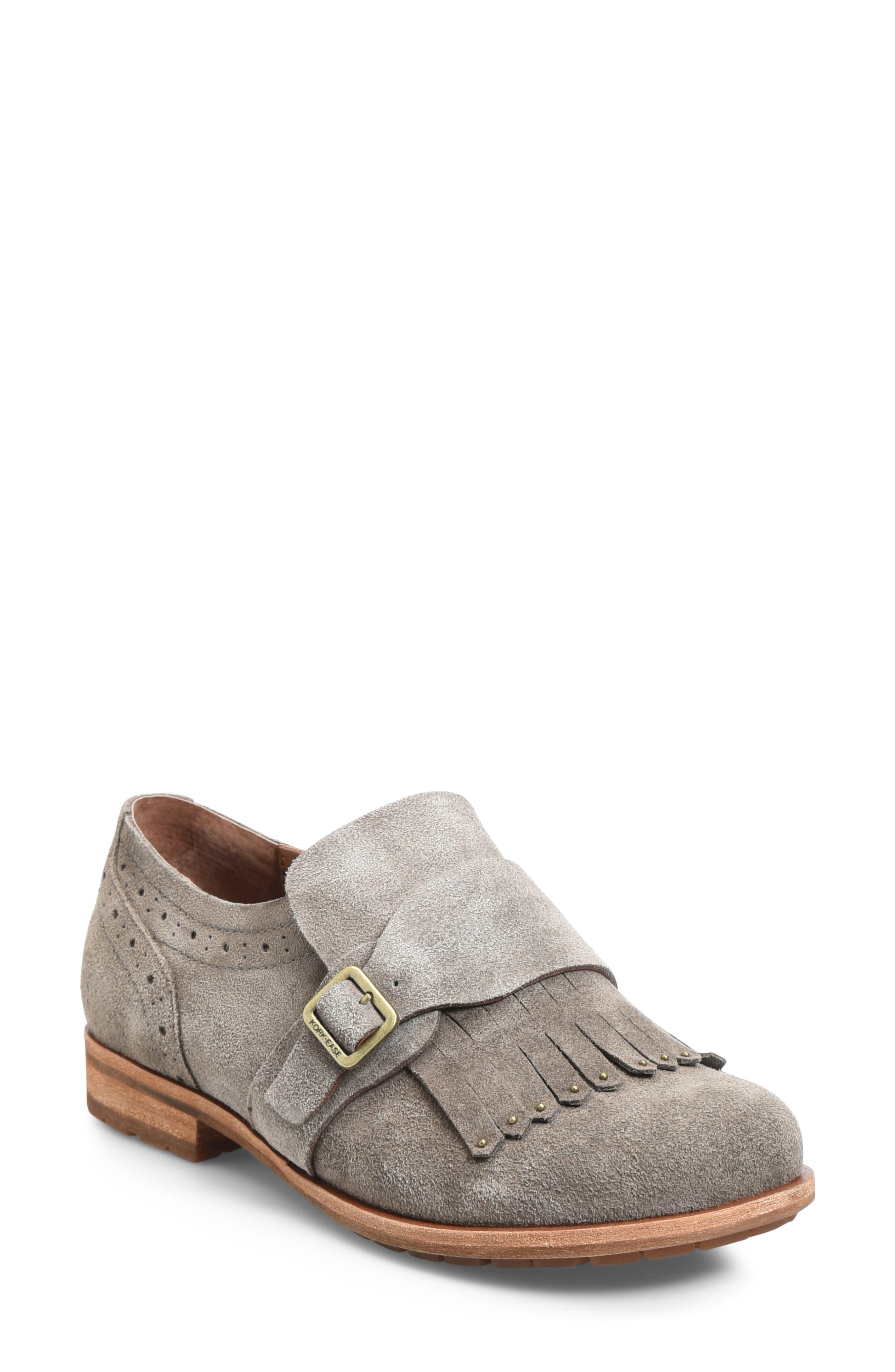 Kork-Ease Bailee Kiltie Monk Strap Shoe, Grey