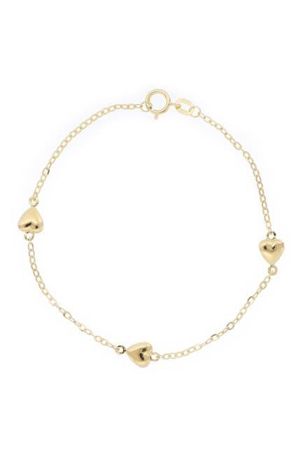 Image of Bony Levy 14K Yellow Gold Triple Heart Bracelet