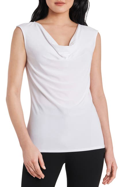 Image of Chaus Drape Neck Sleeveless Top