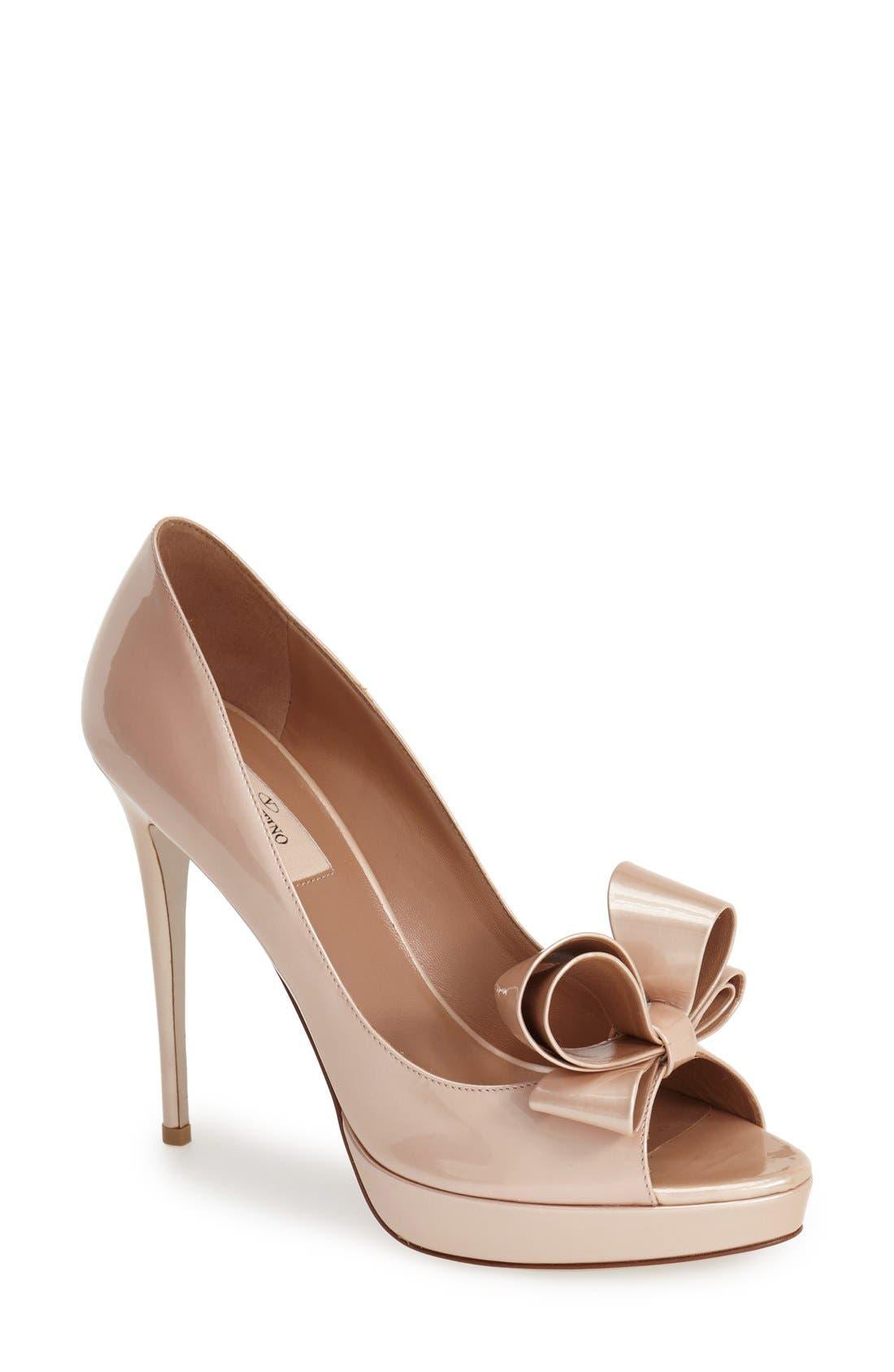 ,                             Couture Bow Platform Pump,                             Main thumbnail 7, color,                             250