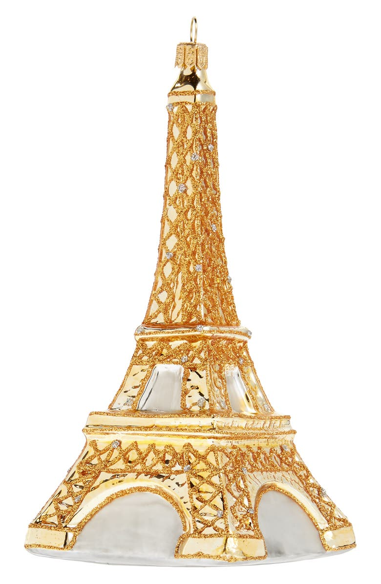 NORDSTROM Eiffel Tower Ornament, Main, color, GOLD MULTI