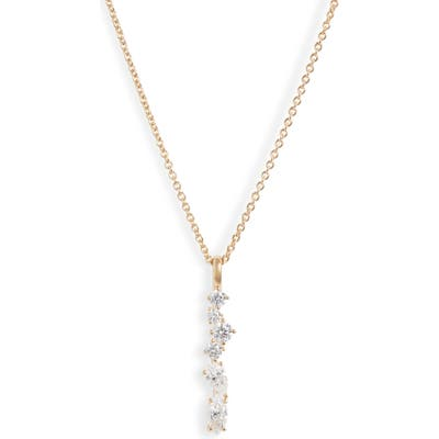 Nadri Mixed Cut Cubic Zirconia Bar Pendant Necklace
