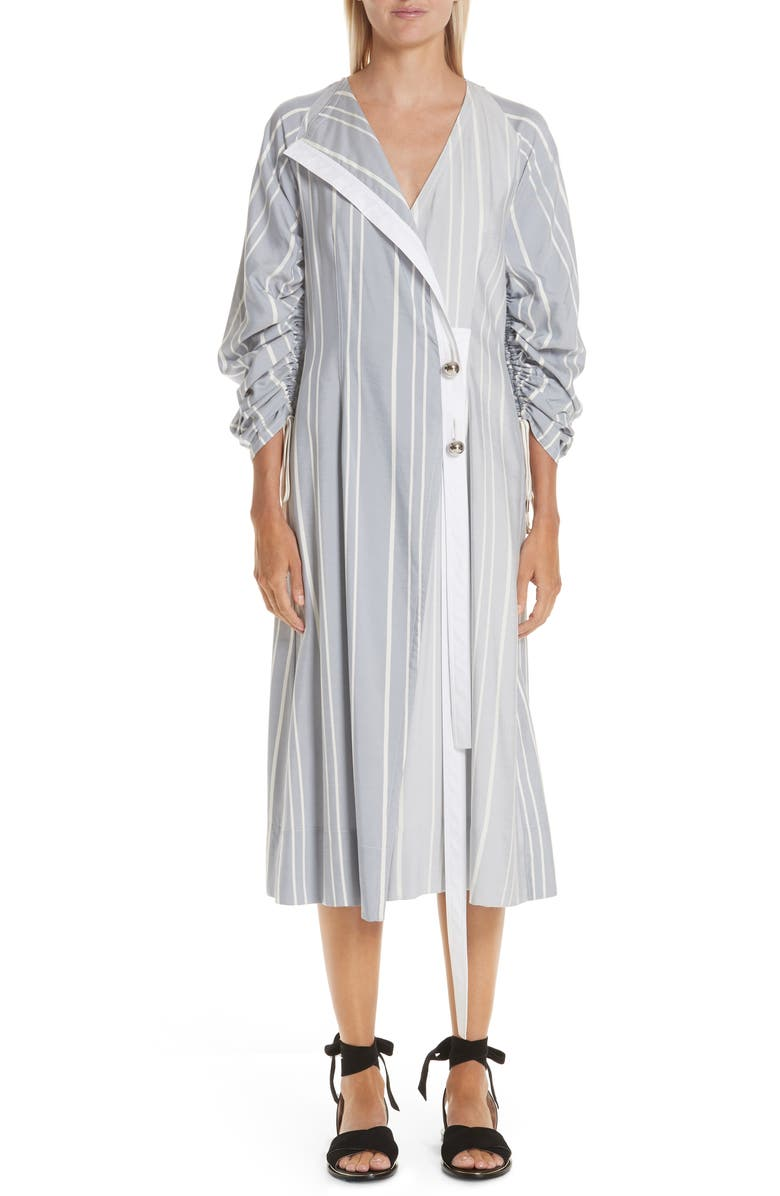 YIGAL AZROUËL Ruched Stripe Shirtdress, Main, color, 400