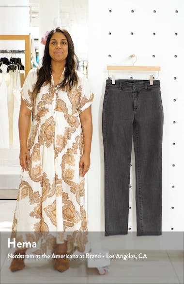 Marilyn Paneled Straight Leg Jeans, sales video thumbnail