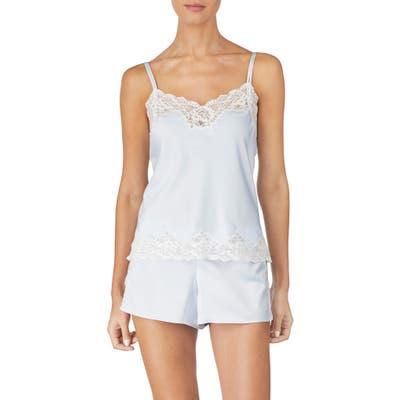 Lauren Ralph Lauren Lace Trim Short Pajamas, Blue