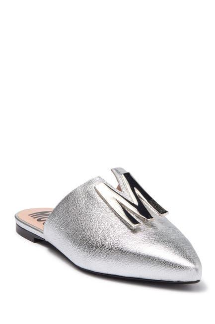 Image of MOSCHINO Metallic Leather Mule