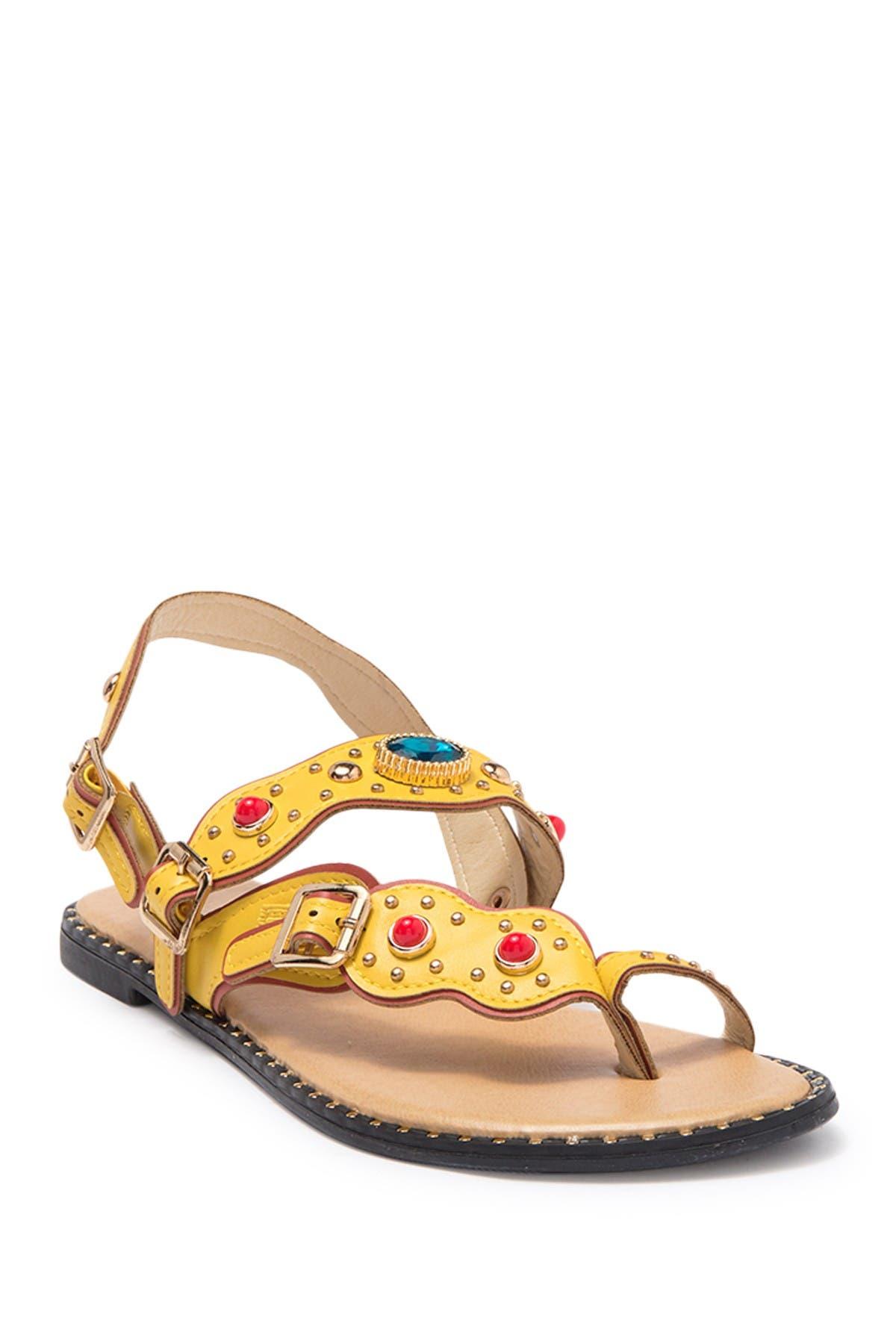 Image of Wanted Jeweled Toe Loop Sandal