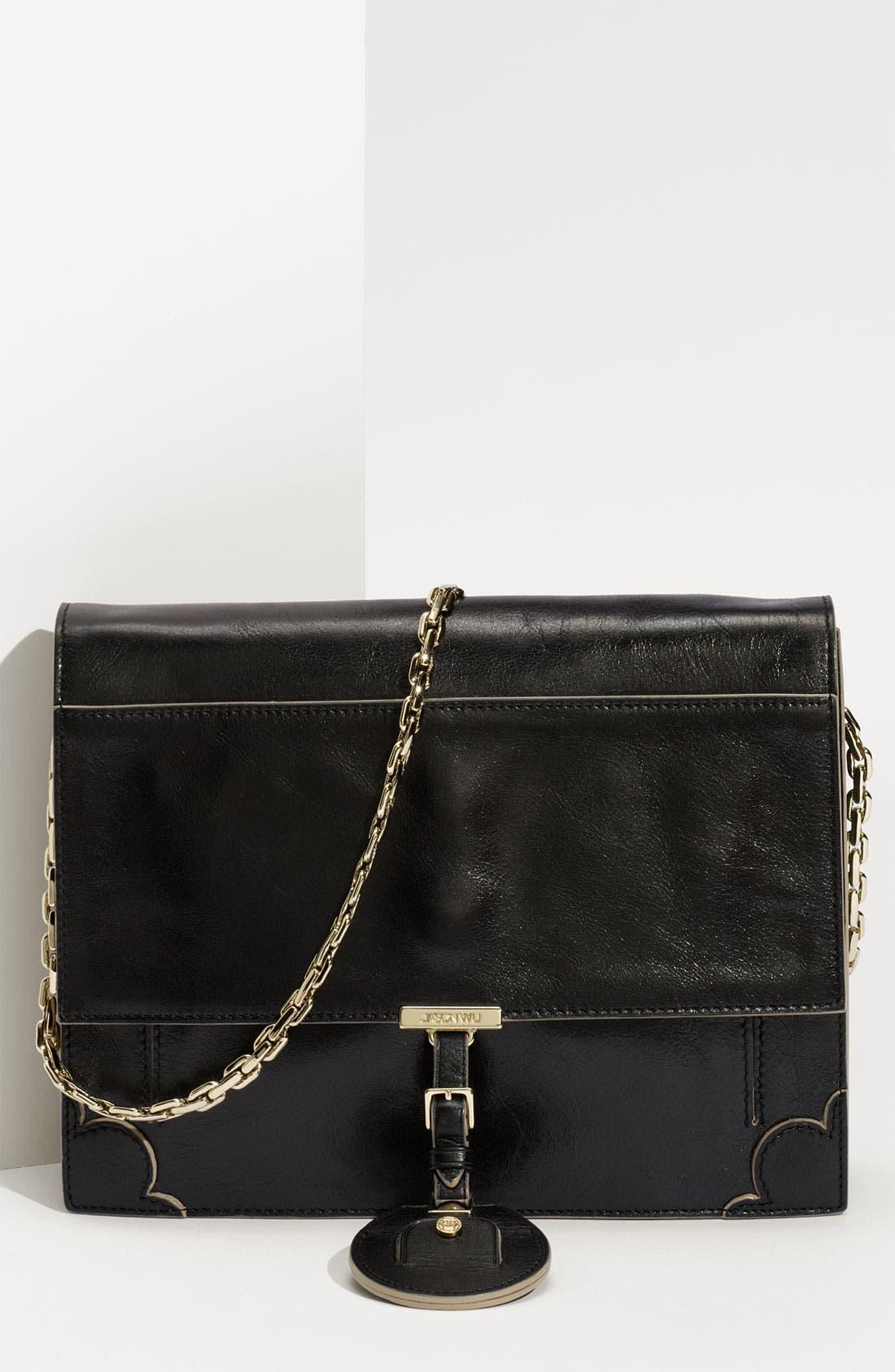 Jason Wu 'Jourdan' Calfskin Leather Shoulder Bag, Main, color, 001