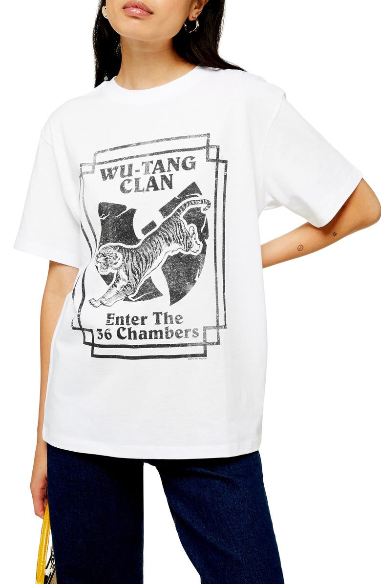 TOPSHOP by And Finally Wu Tang Tee, Main, color, WHITE MULTI