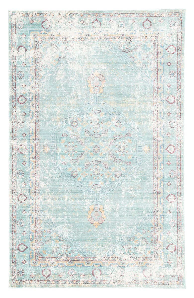 JAIPUR Contemporary Porcelain Rug, Main, color, BLUE/ GREY
