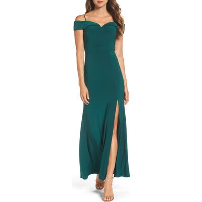 Morgan & Co. Off The Shoulder Gown - Green