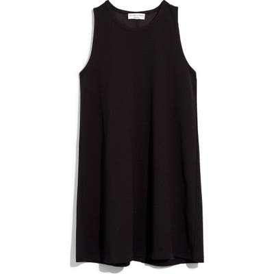 Madewell Texture & Thread Crepe Swingy Tank Dress, Black
