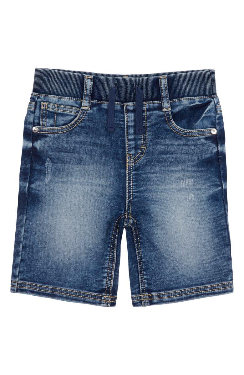PEEK AREN'T YOU CURIOUS Robert Pull-On Denim Knit Shorts, Main, color, DARK STONE