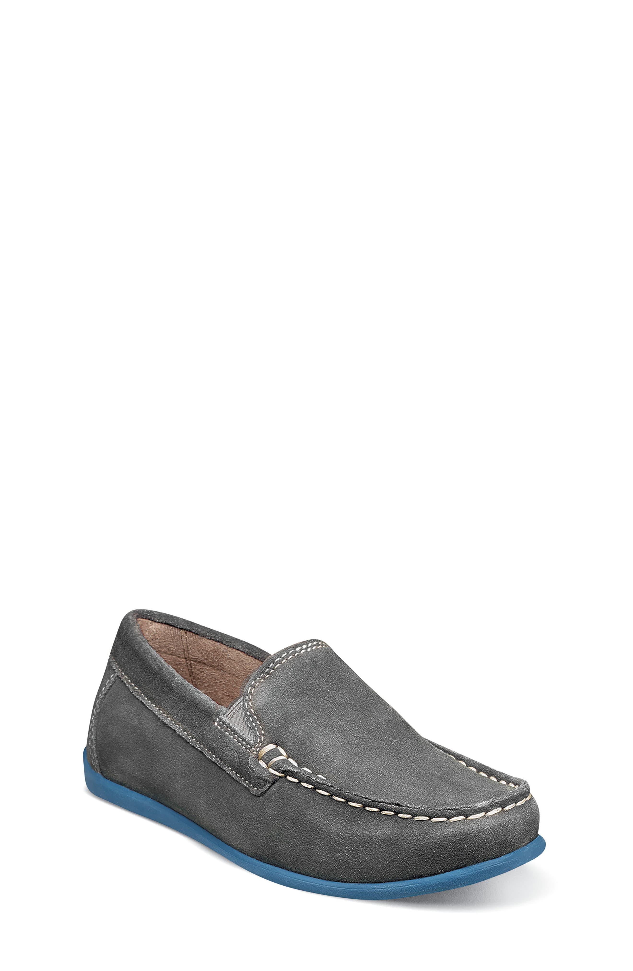 Boys Florsheim Jasper  Venetian Jr Loafer Size 1 M  Grey