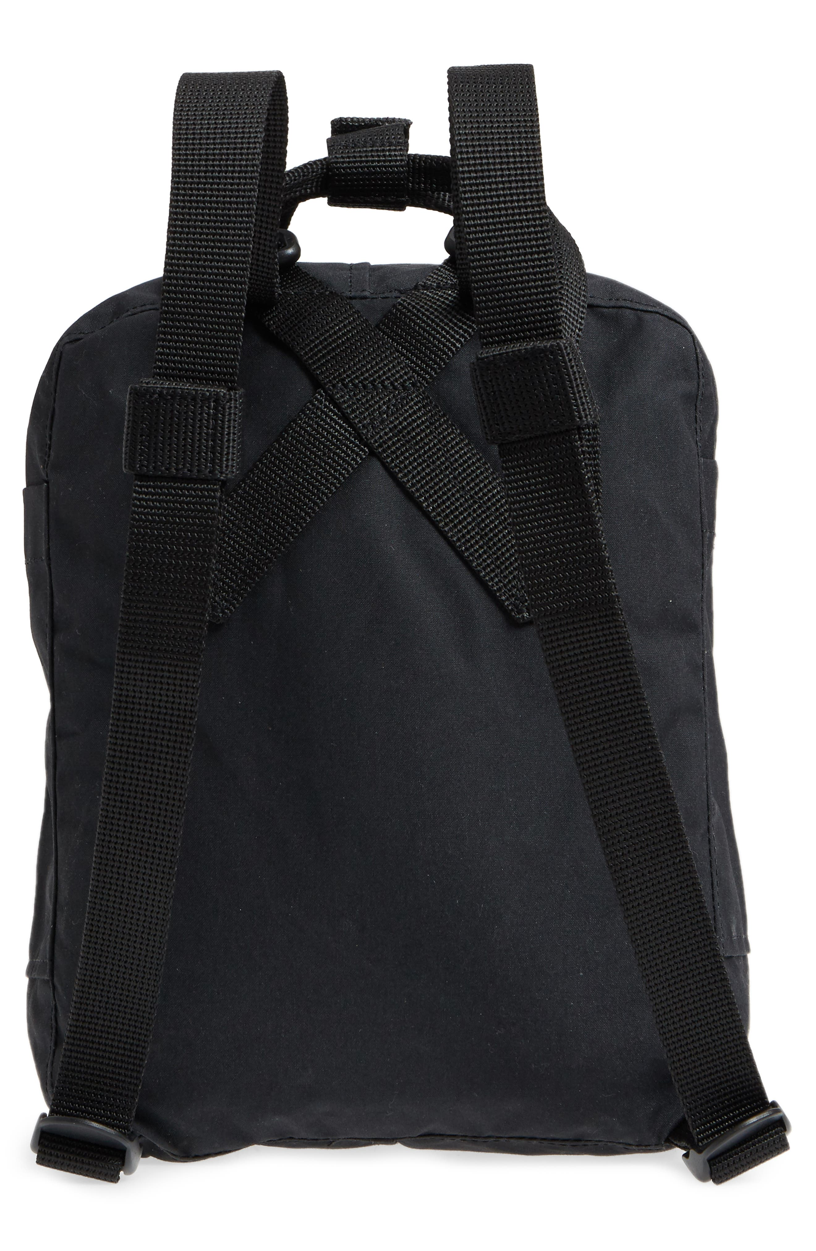 ,                             'Mini Kånken' Water Resistant Backpack,                             Alternate thumbnail 4, color,                             BLACK