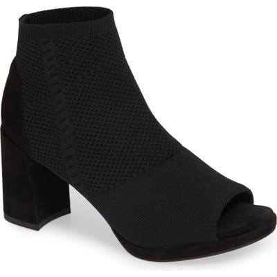 Eileen Fisher Margate Peep Toe Bootie- Black