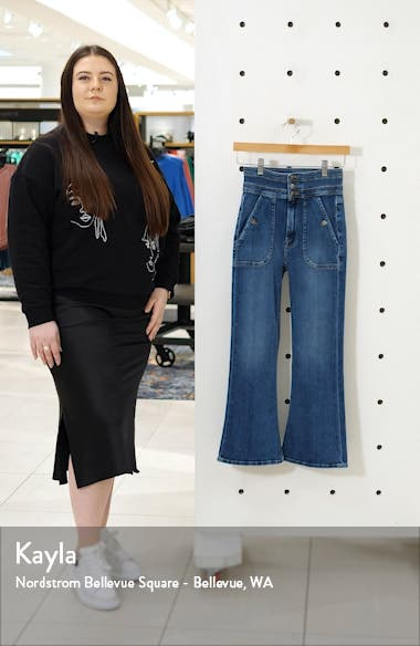 Le Crop Flare Triple Waist Jeans, sales video thumbnail