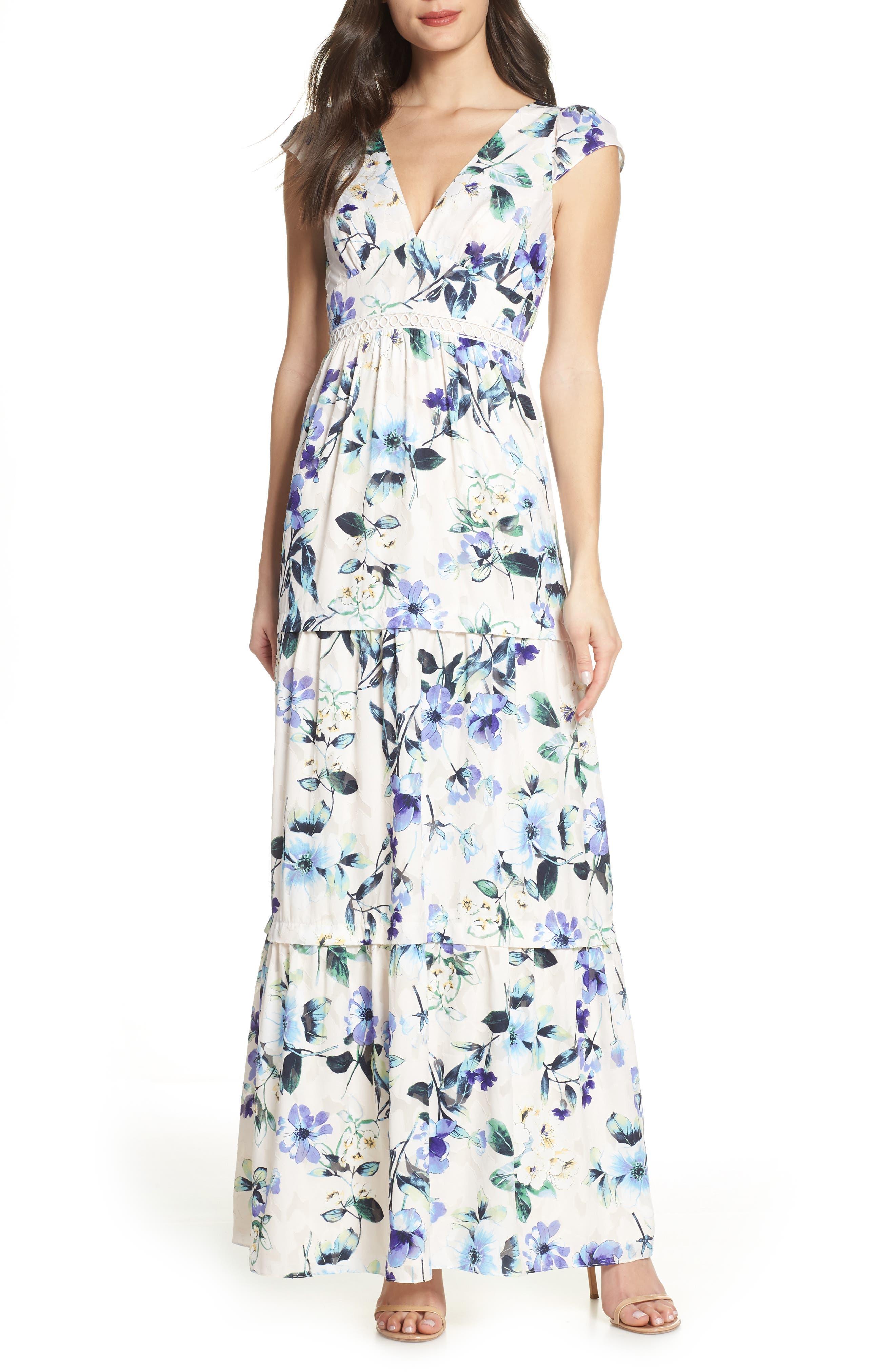 Foxiedox Ressie Maxi Dress, Ivory