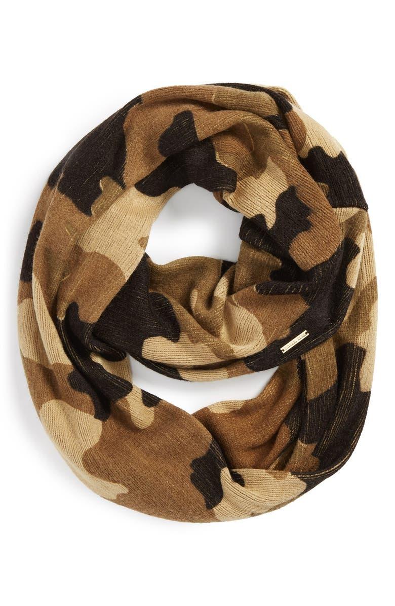 MICHAEL MICHAEL KORS 'Kala Camouflage' Infinity Scarf, Main, color, 200