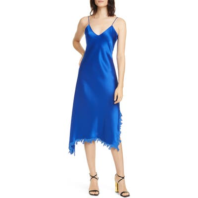 Polo Ralph Lauren Lace Detail Satin Slipdress, Blue