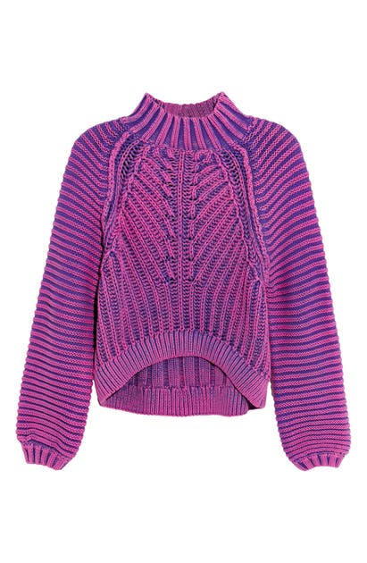 Free People SWEETHEART MOCK NECK SWEATER