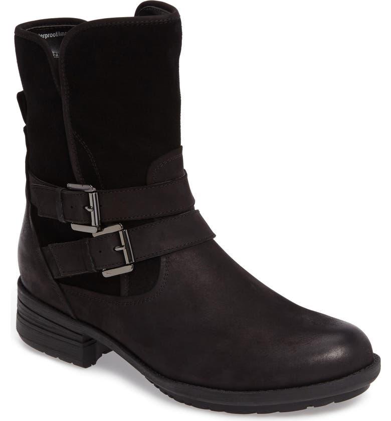 BLONDO Tula Waterproof Boot, Main, color, BLACK NUBUCK LEATHER