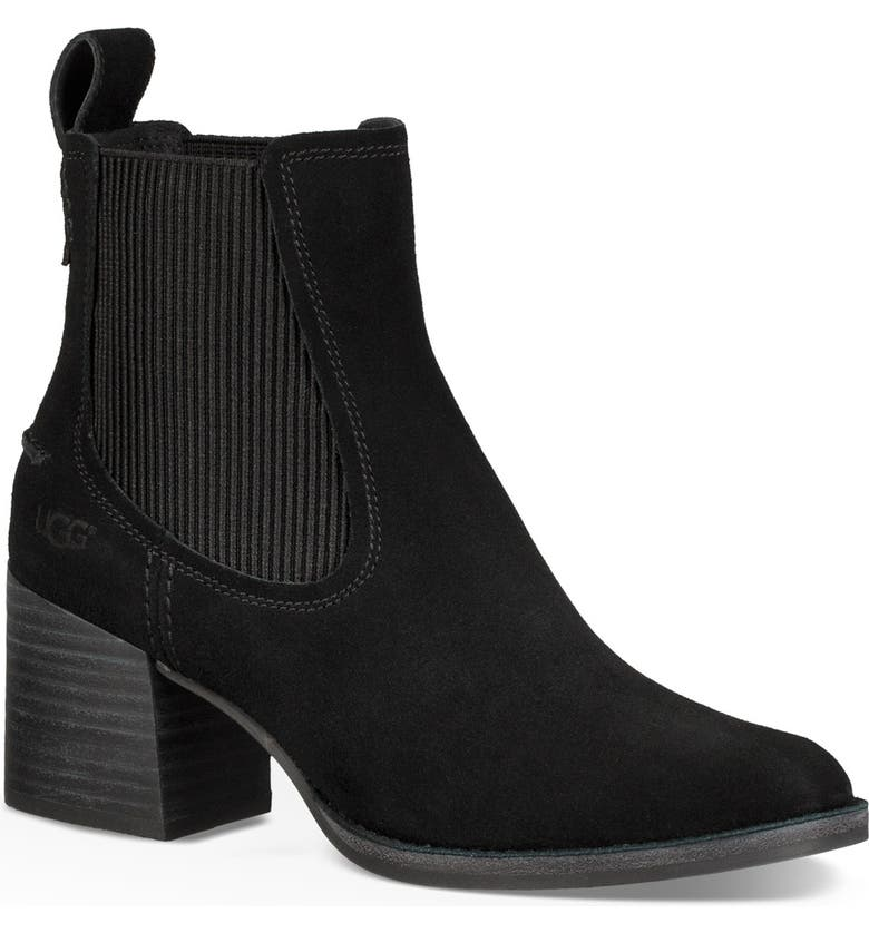 UGG<SUP>®</SUP> Faye Chelsea Bootie, Main, color, 001