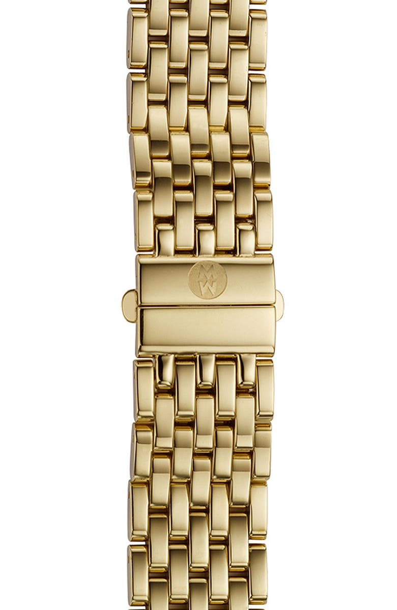MICHELE Deco 16 16mm Gold Plated Bracelet Watchband, Main, color, GOLD